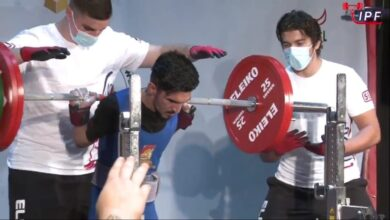 صورة أحد طلبة أقسام واسط بطلاً للعالم في ألعاب القوة البدنية .