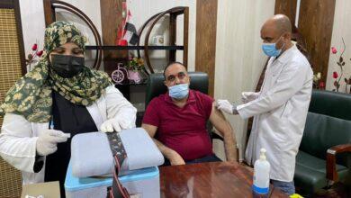 صورة حملة أخذ اللقاحات ضد فيروس كورونا في كلية شط العرب الجامعة