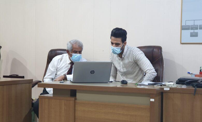 صورة اللجنة الوزارية للأمتحانات الإلكترونية تزور كلية شط العرب الجامعة
