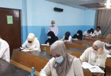 صورة عميد كلية شط العرب الجامعة يتفقد القاعات الامتحانية الحضورية لقسم القانون
