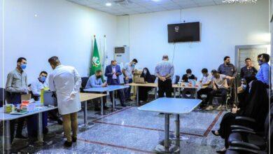 صورة جامعة العميد وبالتعاون مع دائرة صحة كربلاء المقدسة تنفذ حملة تطعيم بلقاح COVID-19 للجرعة الثانية