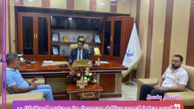 صورة الدراجي  يستقبل عدد من المهنئين لتسنمه منصب معاون العميد
