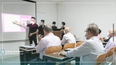 صورة كلية هندسة النفط بجامعة العين تجري مناقشة بحوث تخرج المرحلة الرابعة