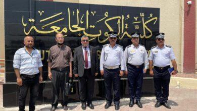 صورة مدير مرور محافظة واسط يحل ضيفا على كلية الكوت الجامعة اليوم .