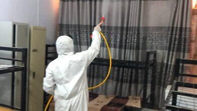 صورة قسم الاقسام الداخلية بجامعة القادسية ينظم حملة تعفير واسعة للبناية الخاصة بإسكان الطالبات