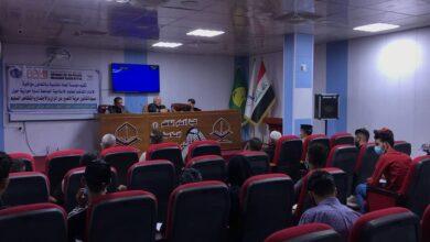 صورة مناقشة مسودة قانون حرية التعبير عن الرأي في اقسام واسط