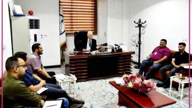صورة الدكتور الربيعي يجتمع برؤساء ومقرري الأقسام العلمية اليوم .