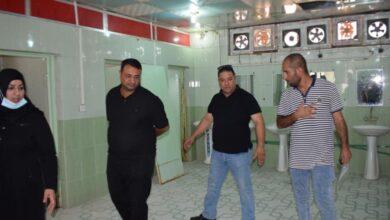 صورة تنفيذ حملة صيانة شاملة في الاقسام الداخلية بجامعة القادسية