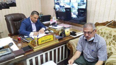 صورة زيارة رئيس لجنة الشطب المركزية لمبنى الاقسام الداخلية بجامعة القادسية