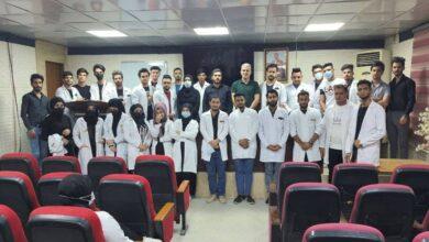 صورة كلية الطوسي الجامعة تستمر بدورة أساسيات التمريض العملي خلال فترة التدريب الصيفي.